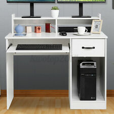 Office Gaming Computer Desk With Drawer Amp Keyboard Tray Laptop Table Workstation