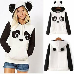 Women's Long Sleeve Hoodie Sweatshirt Hooded Jumper Sweater Pullover Tops Coat