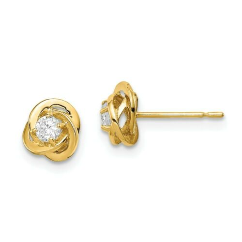 Details about  /14k 14kt Yellow Gold Madi K CZ Oval Post Earrings