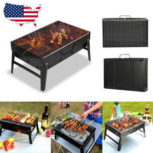 Image Is Loading  BBQ Barbecue Grill Folding Portable Charcoal Outdoor Camping
