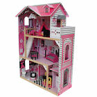 Alexandra Wooden Doll House with Elevator Furniture Kids Toy Pretend Play Barbie