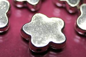 Beads-Perlen-Metallperlen-SILBERBLUTE-Tibetperlen-Schmuck-basteln-Halskette