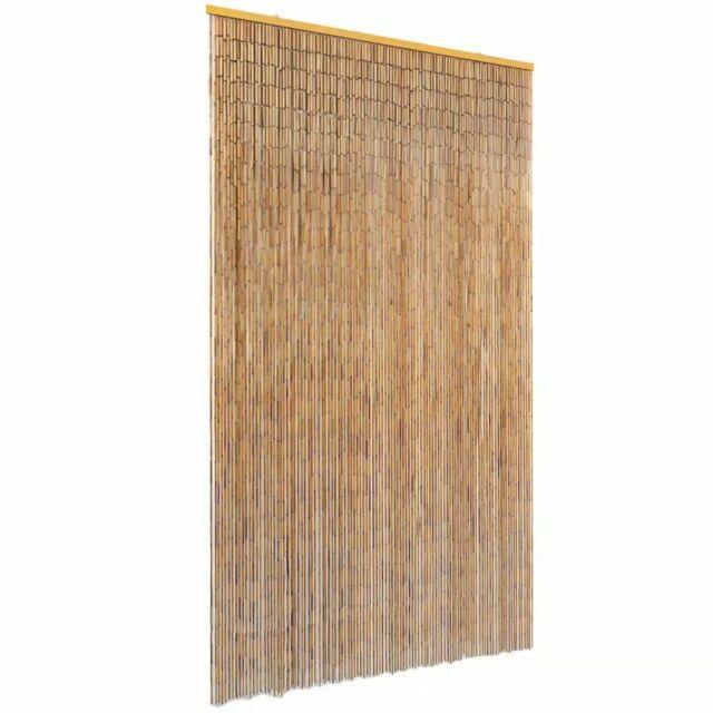 vidaXL Tenda Antimosche per Porte Bambù 120x220 cm Protezione Insetti Zanzare