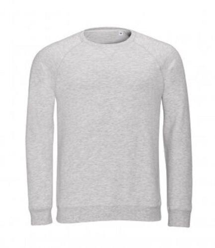 New SOL/'S Mens Long Sleeve Jumper Slim Fit Plain Reglan Sweatshirt