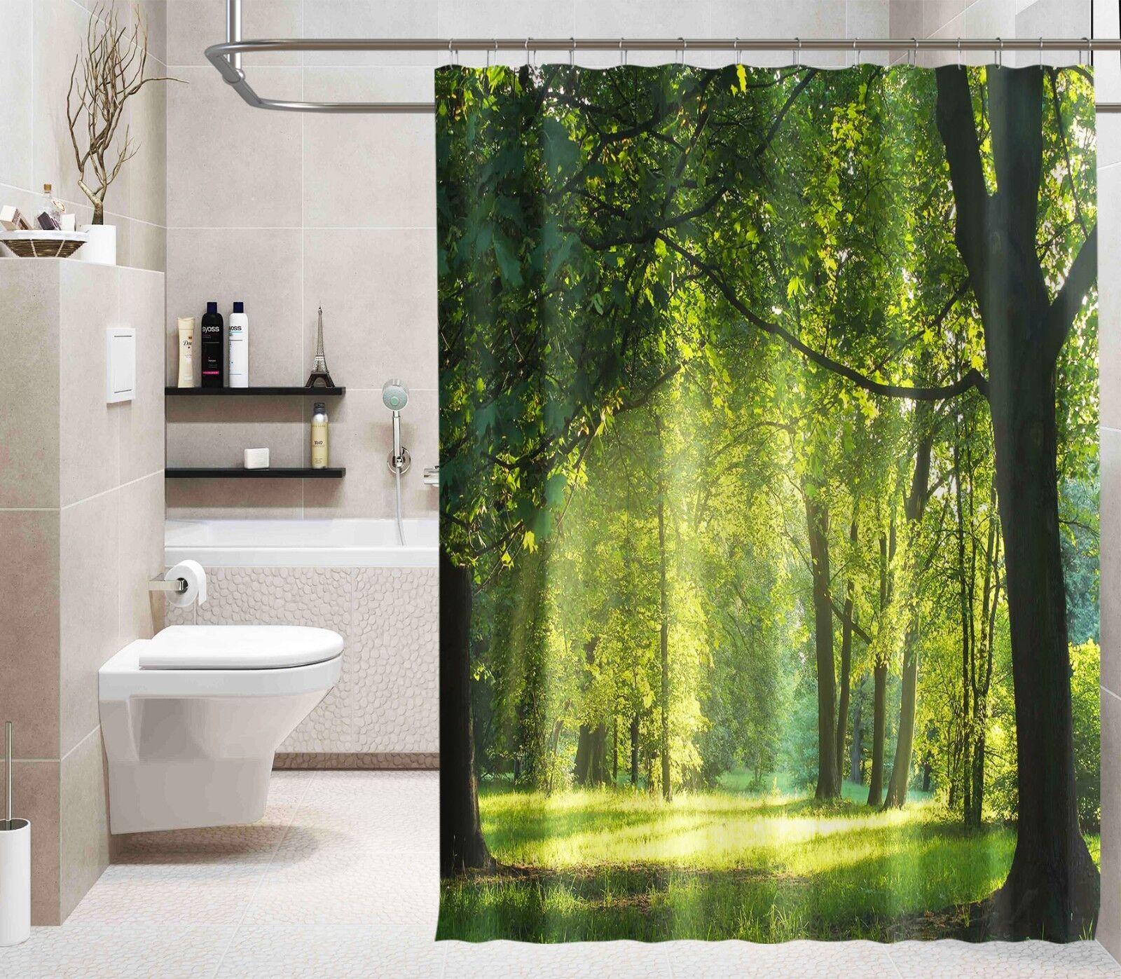 3D nature arbre 37 Rideau de Douche Imperméable Fibre Salle de Bain Home Windows Toilette