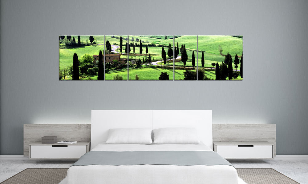 Toscana Landscape ITALY panorama 5 images p500061 xxl toile chassis Living