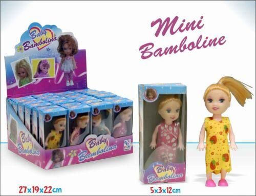 cc Set 24 Pz Mini Bamboline Bambole Vestiti Colorati Giocattolo Bambine hmj