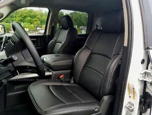 Katzkin Black Leather Int Seat Covers Fit 2012 2017 Dodge