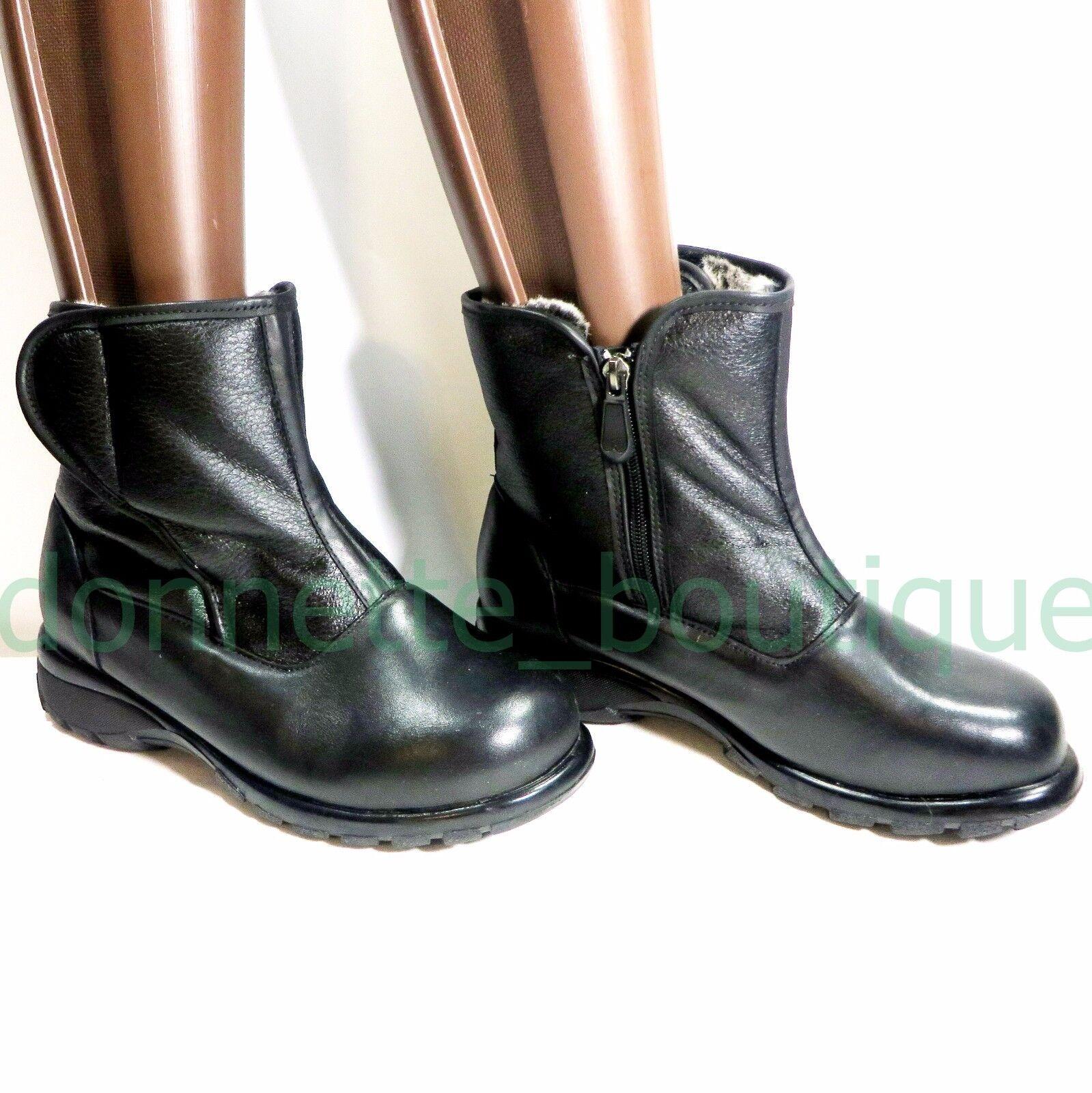 CLINIC EXTRA - CLAIRE  Damens Leder Faux Fur lined Stiefel   Größe 7 W EXUC