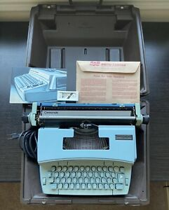 Smith Corona Typewriter Coronet Super 12 Works great+manual case 2 addl cartridg