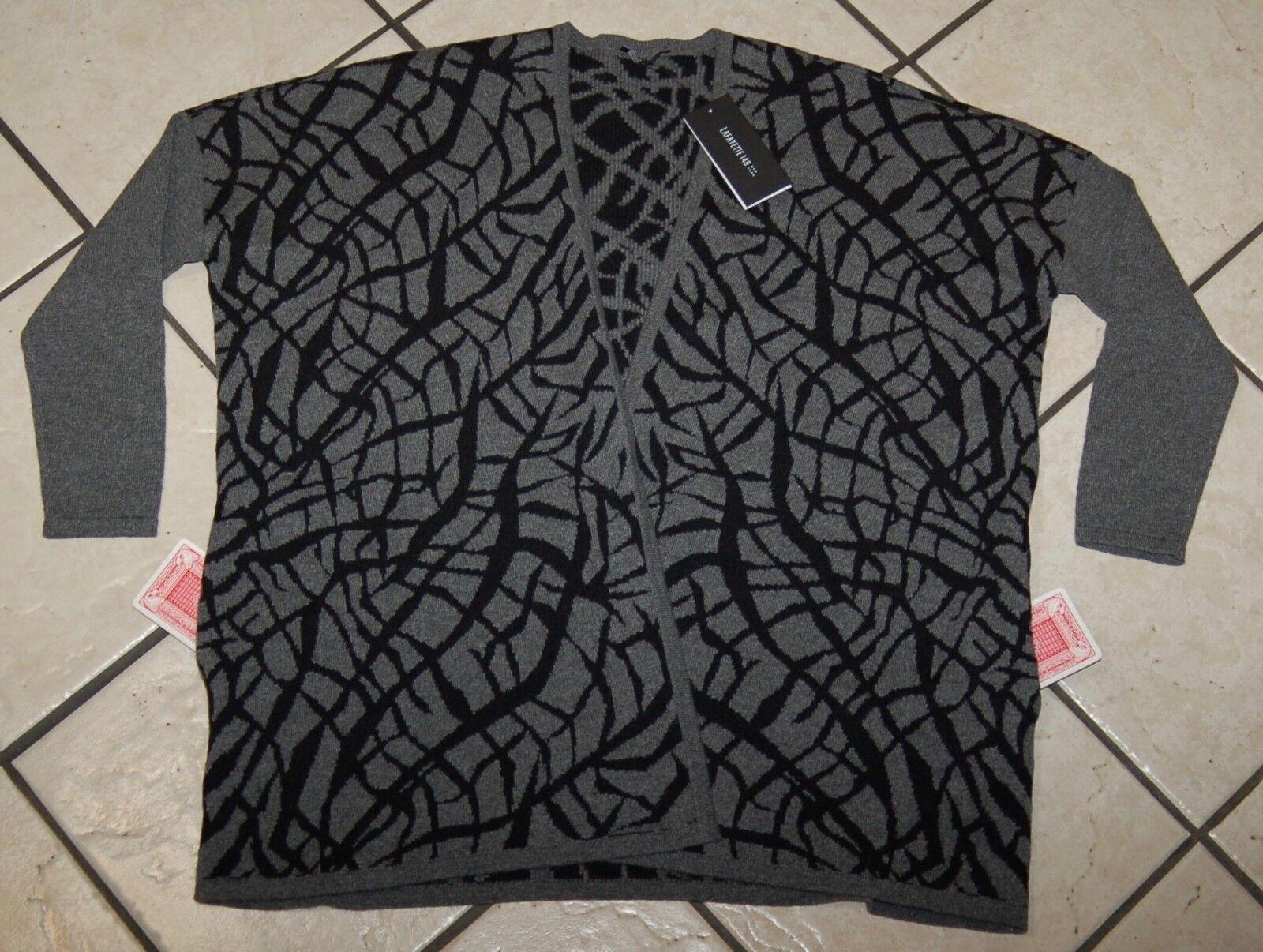 Lafayette 148 ny Woherrar Print bildigan tröja, Smoke Multi, Storlek S