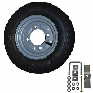 Spare-Wheel-amp-Tyre-with-Mounting-Bracket-for-Erde-amp-Daxara-100-101-102-Trailer