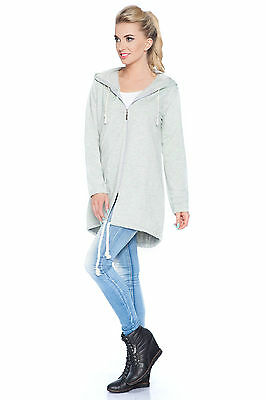 Womens Loose Fit Hoodie With Pockets Tracksuit Casual Sweatshirt Size 8-12 1894