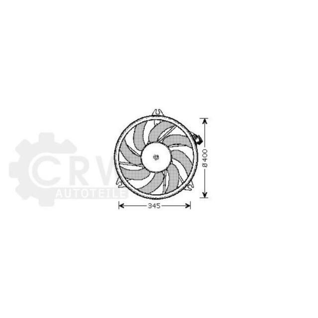 Ventilador Refrigeración Del Motor Peugeot 206 Hatchback 2A/C cc 2D Sw 2E/K