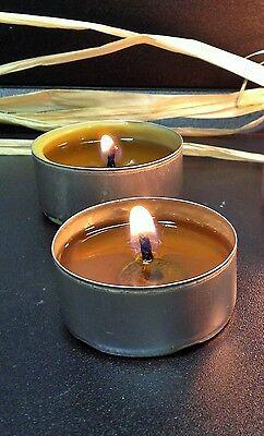 12 HANDMADE BEESWAX TEA LIGHTS from beekeeper