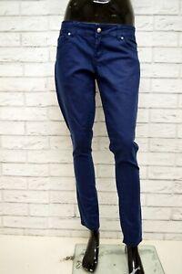 Jeans-SILVIAN-HEACH-FRESH-Donna-Taglia-46-Pantalone-Blu-Slim-Fit-Skinny-Elastico