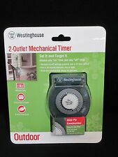 Westinghouse 2 outlet outdoor 24 hour mechanical timer ebay westinghouse 2 outlet mechanical timer outdoor christmas lights decor aloadofball Images