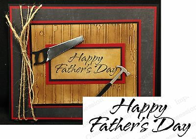 Words HAPPY FATHER'S DAY Rubber Stamp C1451 by IMPRESSION OBSESSION STAMPS Word