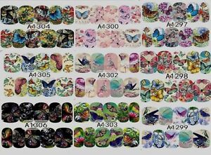 Animal-Dog-Cat-Panda-Rabbit-Owl-Deer-Butterfly-Nail-Decal-Stickers-BUY2GET2FREE