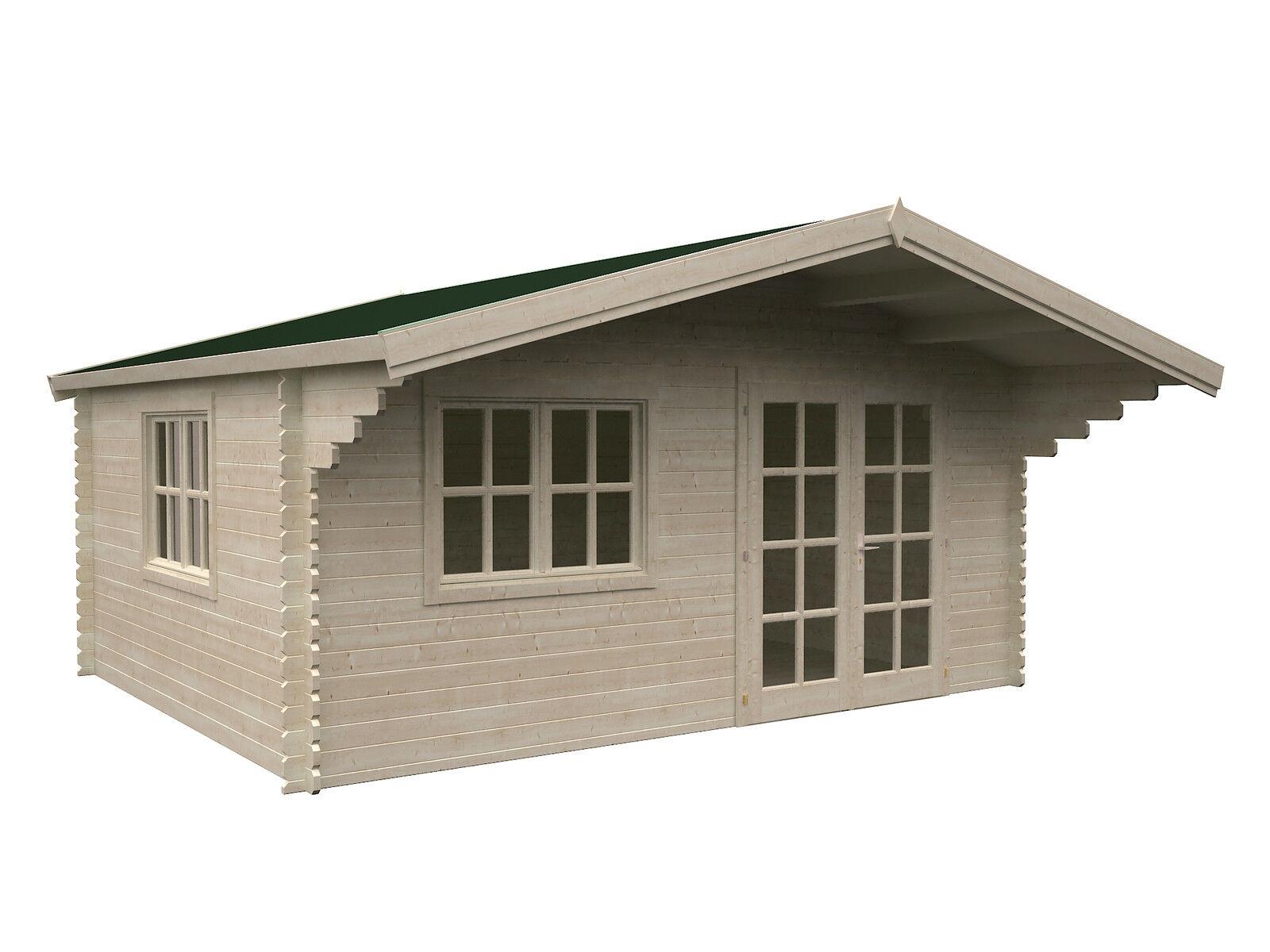 34 mm gartenhaus baily 5 1 ger tehaus blockhaus holz 400x400 cm schleppdach ebay. Black Bedroom Furniture Sets. Home Design Ideas
