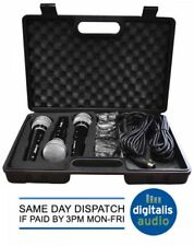 Soundlab 3 Dynamic Vocal Karaoke Microphone Kit with Carry Case + 3 x 2.8m Lead