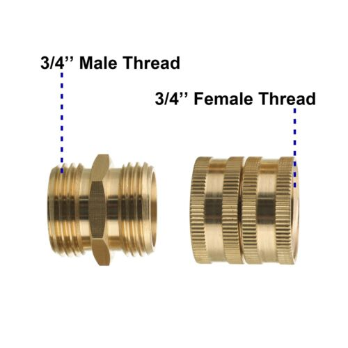 Female to Female Male to Male 3//4 Inch Brass ... M MINGLE Garden Hose Adapter