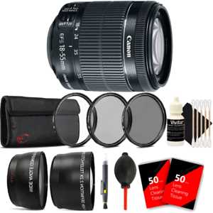 Canon-EF-S-18-55mm-f-3-5-5-6-IS-STM-Lens-w-Accessory-Kit-For-Canon-DSLR-Cameras