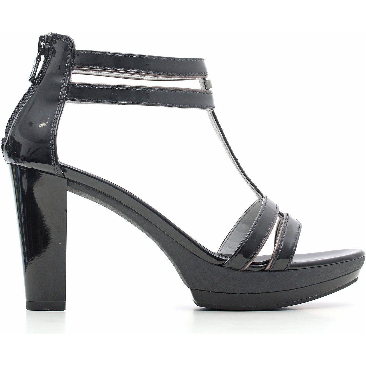 Sandalo nuova collezione negroGiardini P615512D bianco o negro negro negro tacco e plateau  calidad oficial