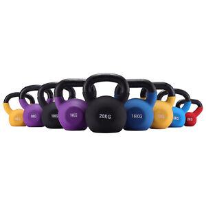 2-20kg Cast Iron Kettlebell Fitness Exercise Class Weight Workout Kettle Bell UK