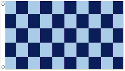Royal Blue and White Checkered Check 5/'x3/' Flag