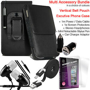 Quality-Vertical-Belt-Pouch-Phone-Protection-Case-Cover-Accessory-Pack-Black