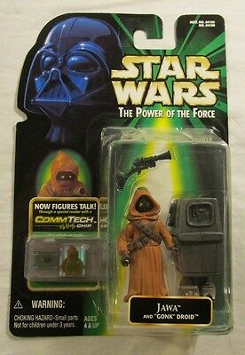 Loose Jawa and Gonk Droid with Commtech Chip Star Wars The Power of the Force