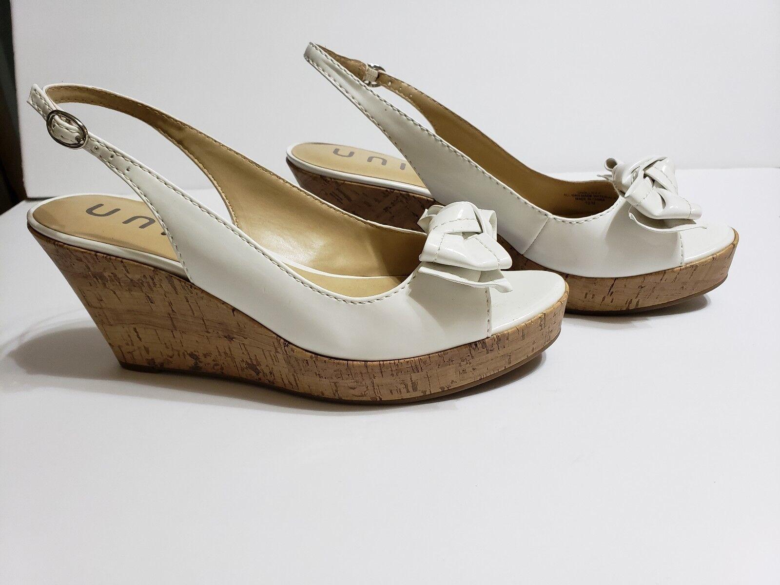 Unisa Bow Bowtie Cork Wedges Size 10M Sandals Open Toe shoes