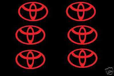 "Toyota logo 6X 2"" sticker Wheel center hub cap wheel decal corolla camry jdm"