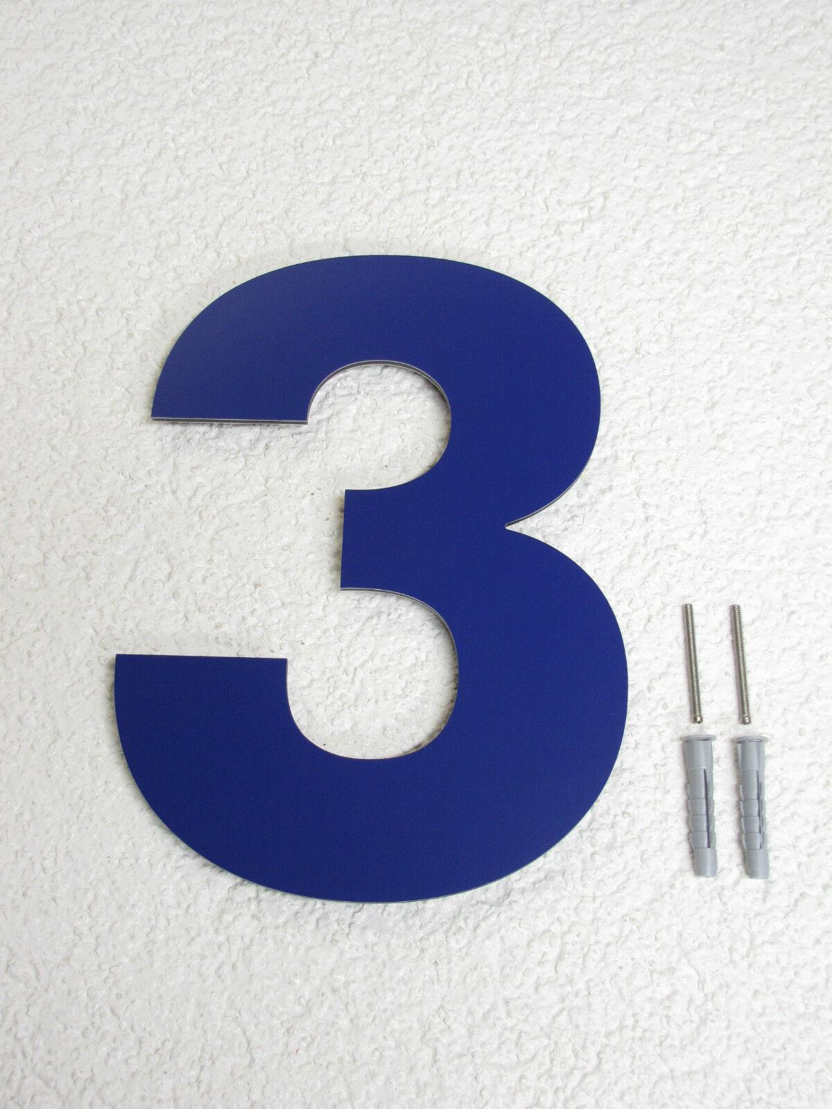 Hausnummer blau RAL 5002 XXL 30 cm 1 2 3 3 3 4 5 6 7 8 9 0 a b c d e f g h | Guter weltweiter Ruf  | Verschiedene  | Gutes Design  d2f693