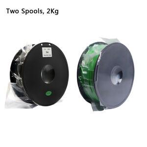 No Taxs! Geeetech 2×PLA Filaments1.75m<wbr/>m Green and Black Color for 3D Printer