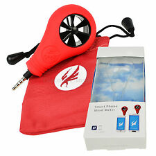 Pocket Size 2-89 mph Wind Speed Meter Smart Phone Anemometer Direction Recorder