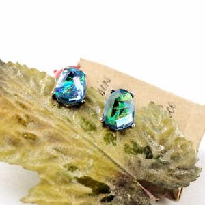 Blue-Earrings-Stud-Earrings-Antique-Radiant-Designer-Opal-Brand-Mist-Silver