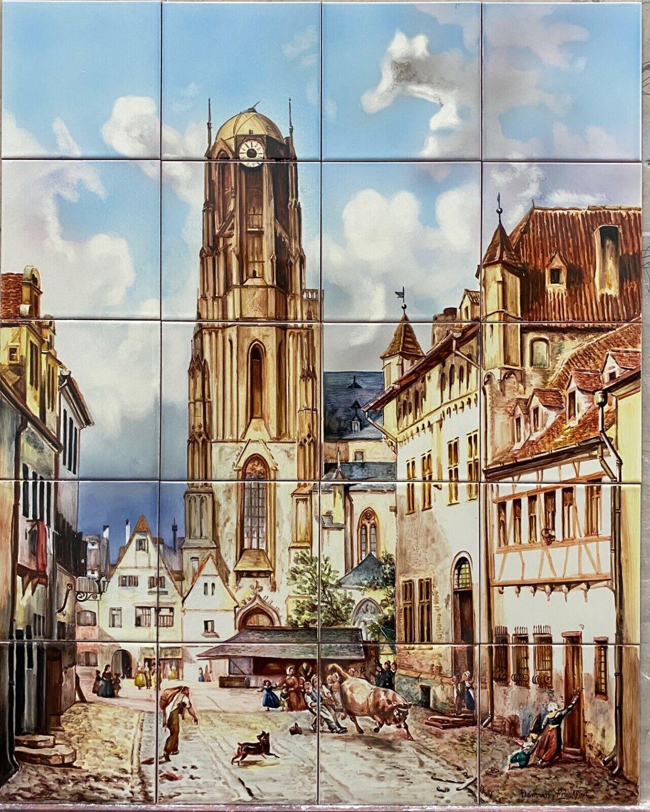 24 TILES (Michael Neher Der Dom in Frankfurt am Main 1860 HANDPAINTED...