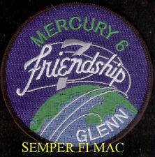 "FRIENDSHIP 7 MERCURY NASA Patch US MARINE JOHN GLENN ASTRONAUT 4"" USS NOA WOW"