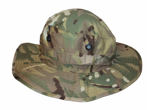 British Army MTP CAMO BUSH HAT Tropical//Summer//Protect//Military//CADET//Kids NEW