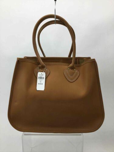 LL Bean Brown Leather Shoulder Bag Tote Bag