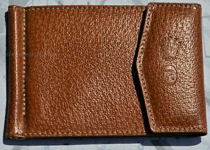 grande vendita 5509b fde86 Dettagli su Bellissimo portafoglio a molla in pelle marrone d'epoca  ORIGINALE ROLEX NUOVO