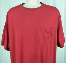 Tommy Bahama Casual Pullover Embroidered Logo Pocket T-shirt Large Red Mis-Sized