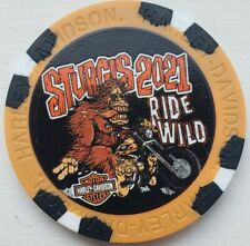 Harley Davidson Poker Chip 81st Sturgis Rally Hill City South Dakota Sold Out