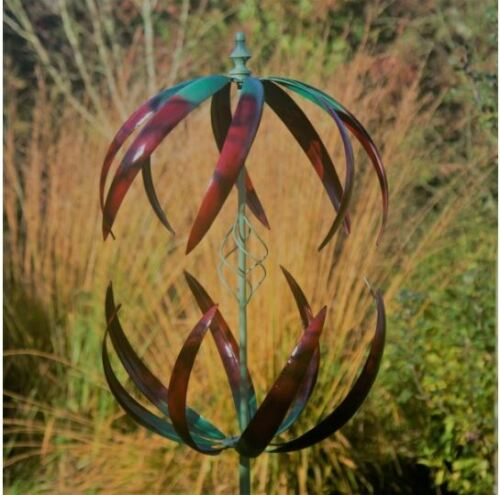 Jonart Designs Cosmic Wind Sculpture Green and Red Color WINDSPINNER Sp455