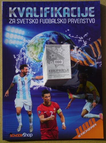 Qualification for World Cup RUSSIA 2018 album+FULL set of 1100 stickers