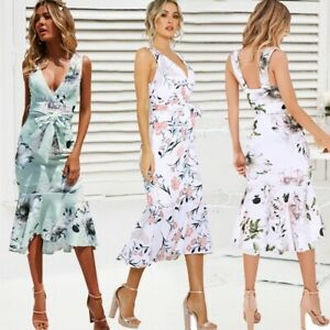 Womens-Boho-Floral-Sexy-Strappy-Ruffle-Dresses-Ladies-Summer-Holiday-Beach-Dress