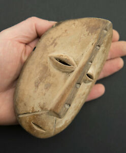 Mask Lega Pasport Masquette African DRC 5 1/2in Art African Customary Law 16665