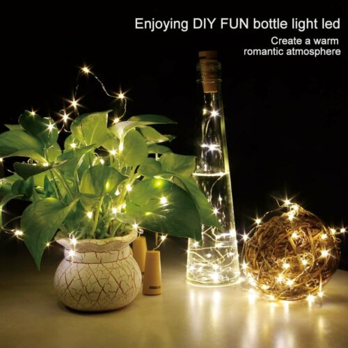 10 20 30 LED String Fairy Lights Red Copper Wire Battery Operated For Home Decor